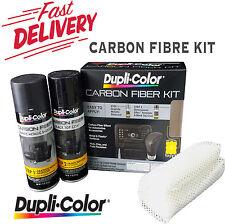 DUPLICOLOR CARBON FIBRE KIT DUPLI-COLOR 3D BLACK DIY SPRAY WEAVE AUTO FIBER