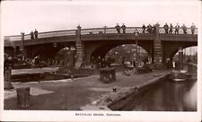 More details for runcorn. waterloo bridge in w.h.mack's series. canal barges.