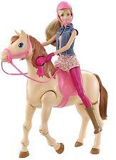 Saddle 'N Ride Horse Barbie Doll New Girls Walking Toy Set Gift Pink Playset