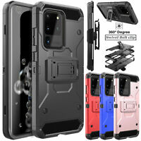 For Samsung Galaxy S20 Ultra/Plus 5G Belt Clip Armor Case Cover With Kickstand