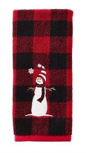 Casaba Winter Snowman Snowflakes and Red Cardinals Holiday Kitchen Towel Set