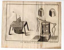 Monnaie Métier artisan les machines à monoyer  gravure an 1751/GLSN3