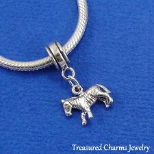 .925 Sterling Silver ZEBRA African Horse Dangle Bead CHARM for EUROPEAN Bracelet