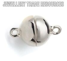 10mm 925 Sterling Silver Magnetic Clasp Catch for Bracelet or Necklace Ball Bead