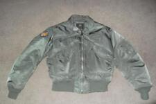 Military Flyer's Jacket Extra Large Sage Grn Vietnam era USAF US Army Men Boys95