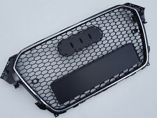 RS Style chrome / black honeycomb mesh grill for Audi A4 B8.5 S4 2012+ with PDC