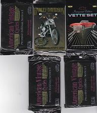 "TRADING CARDS ""HARLEY DAVIDSON"" ""CORVETTE""++  5 PACKS  NEW>*FREE U.S. SHIPPING*"