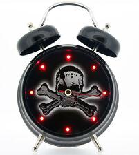 Skull & Crossbones Alarm Clock Black