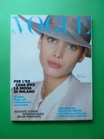 VOGUE Italia Gennaio 1988 454 January Christy Turlington Cindy Crawford Al Dunne