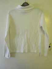 Cream Turtle Neck Long Sleeve Top in Size Small / Size 8 - 10