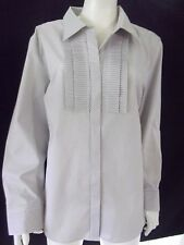 NONI B  Womens  L/S Fawn/White striped Shirt/Blouse size 14 - BNWOT