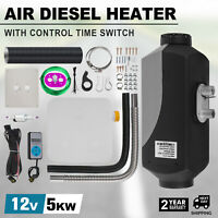 ve 5KW 12V Diesel Air Heater 10L Tank Digital Switch For Truck Boat Trailer od