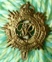 Royal Army Service Corps Cap Badge KC RASC GVI 1936-52 Era BRASS ANTIQUE Origina