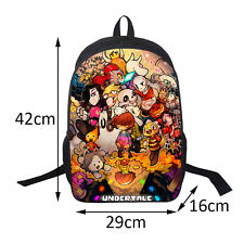 16'Undertale Sans Papyrus Multi-charact Casual Backpack Game Backpack Laptop Bag