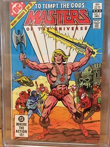MASTERS OF THE UNIVERSE 1 CGC 9.4 WHITE (HE-MAN) 1ST DC COMIC SERIES 1982🔥