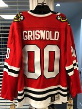 Men's Chicago Blackhawks Vintage Clark Griswold Xmas Vacation Red Jersey X-Large