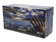 Adenna Dark Light 9 mil Nitrile Powder Free Exam Gloves Black X-Large Box of 90