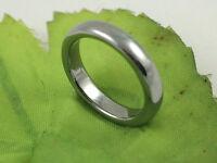 Gatik R1032 Ladies Plain Tungsten 4mm Wedding Band Ring