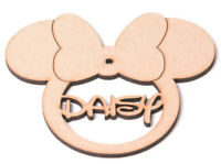 Wooden Personalised Minnie Mouse Bauble Christmas Tree Disney Decoration Gift