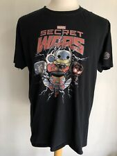 SECRET WARS Official Marvel Thor Spiderman T-Shirt by Funko Pop Size Large