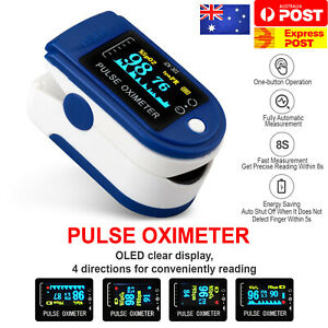 Professional Finger Pulse Oximeter Blood Oxygen Saturation Monitor Heart Rate