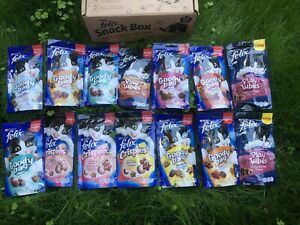 Felix Cat A Selection Of Tasty Treats Snack Box 765 g Pack of 14  Gift For CAT