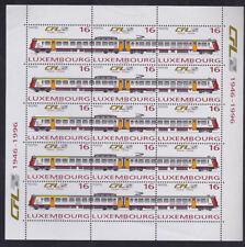 Luxembourg 1996 Mint MNH Minisheet Sheet National Railway Electrified Trains