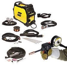 ESAB Rebel EMP 215ic MIG/Stick/TIG Welder, Spoolgun and FREE HELMET (0558102240)