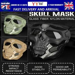 Skeleton Ghost Skull Face Mask Halloween Cosplay Glass FiberNylon Impact Masks