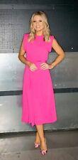 ASOS Celeb Fluro Pink Belted Midi Dress 12 BNWT