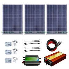 ECO 300W System 3*100W Solar Panel+1KW 12-220V Off Grid Pure Sine Inverter Home