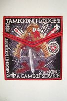 TAMEGONIT 147 2-PATCH GAME OF THRONES RED 100TH OA 2015 NOAC IRON THRONE FLAP