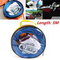 Vehicle Relief Tow Rope Thickened Widened + U-shaped Small Trailer Hook w/Gloves