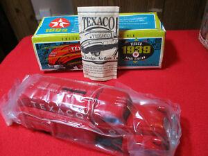 1993 ERTL 1939 Dodge Airflow Texaco Tanker Locking Coin Bank Die Cast 9500 NIB