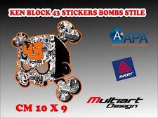 ADESIVI STICKER BOMB ADESIVO STICKERBOMB  CARTOON KEN BLOCK 43