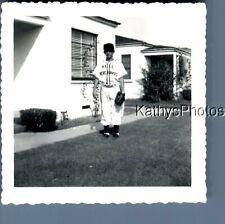 Black & White Photo J_7401 Teen Boy Posed In Baseball Uniform