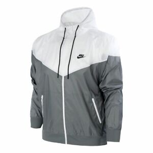 Nike Sportswear Windrunner Full Zip Jacket NWT Grey/White Men DA0001-084 Sz M, L