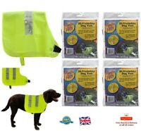 High Visibility Dog Vest Fluorescent Pet Safety Jacket Puppy Night M  L  XL XXL