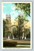 Columbia SC, Trinity Episcopal Church, South Carolina Linen c1946 Postcard
