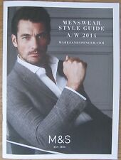 Marks and Spencer Menswear Style Guide A/W 2014 – David Gandy