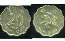 HONG KONG  20 twenty  cent  1997   ( etat )
