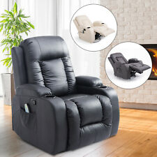 Overstuffed Pu Leather Relaxing Therapeutic Massage Recliner W/ Targeted Relief