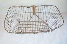Vintage - Kiepe - Kartoffelkorb - Erntekorb - Hozkorb - Eierkorb - mit Holzgriff