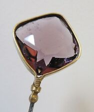 Antique Hatpin Faceted Amethyst Glass