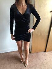 H&M Stunning Velvet Bodycon Mini Dress Size 6