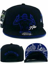 Tupac 2pac All Eyes On Me New Leader Thug Life Black Blue Era Snapback Hat Cap