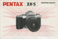 Pentax ZX-5 35mm film camera instruction manual 1995