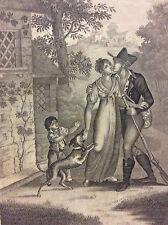 Retour de la Chasse estampe anonyme CIRCA 1810 A Paris chez Noël France
