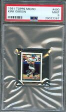 1991 Topps Micro #490 KIRK GIBSON Los Angeles DODGERS Mint PSA 9