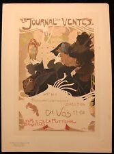 """GEORGES DE FEURE  """"JOURNAL DES VENTES"""" PLANCHE DES MAITRES DE L'AFFICHE"""